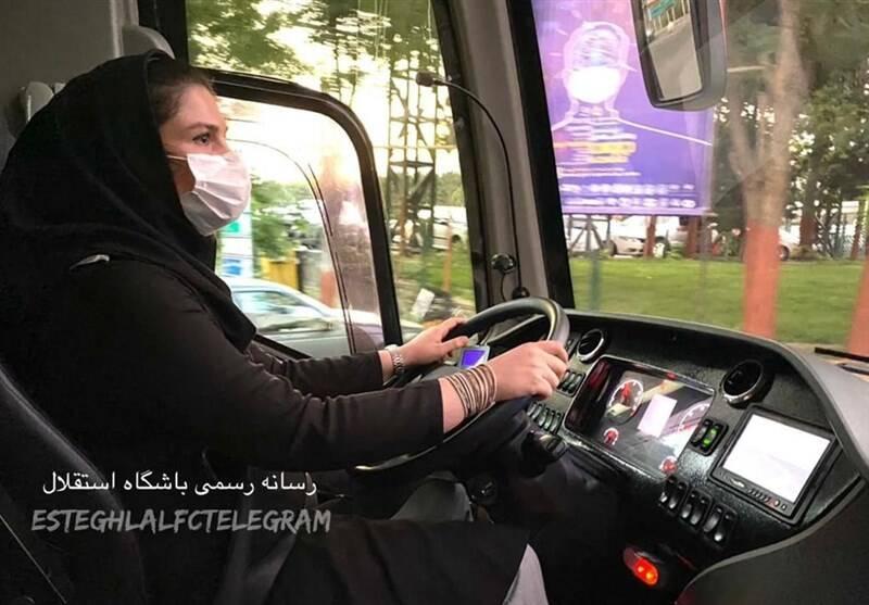 یک خانوم راننده اتوبوس استقلالیها شد +عکس